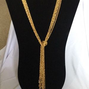 Jewelry - NWOT Vintage Gold Tone Lariat Necklace